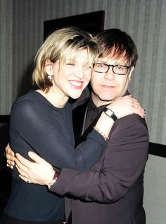 Courtney Love and Elton John