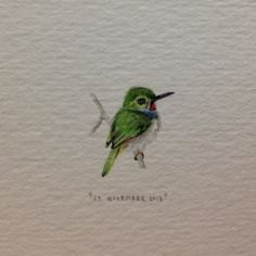 Day 320 : Bee hummingbird - the smallest bird in the world. Happy birthday… Day 320 : Bee hummingbird - the smallest bird in the world. Hummingbird Tattoo Watercolor, Bee Hummingbird, Watercolor Bird, Watercolor Paintings, Small Hummingbird Tattoo, Hummingbird Quotes, Watercolours, Body Art Tattoos, Small Tattoos