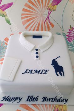 Ralph Lauren shirt themed birthday cake