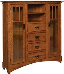The Mission Display Bookcase with Seedy Glass and Drawers is built by Amish furniture craftsmen. Visit Weaver Furniture Sales to see more custom wood bookcases. Arts And Crafts Interiors, Arts And Crafts Furniture, Furniture Projects, Amish Furniture, Solid Wood Furniture, Ikea Furniture, Antique Furniture, Furniture Stores, Modern Furniture