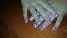 Watermarble nails by Hair & Beauty Salon Jolien