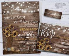 Sunflower Wedding Invitatons, Rustic Wedding Invitations #2457750 ...
