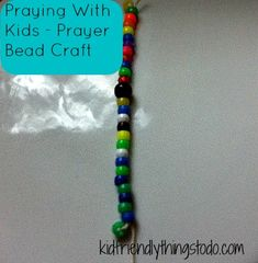 Prayer Beads For Kids, Joseph and the Coat of Many Colors, Noah's Ark (Rainbow), or a Rainbow Party!