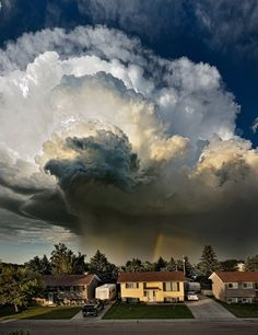 """TYWKIWDBI (""""Tai-Wiki-Widbee""""): Storm cloud: Photo taken in Taber, Canada, last month by Pat Kavanagh. Created by stitching several photos vertically. Found in the Telegraph."""