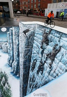 #GameofThrones inspired 3D chalk art