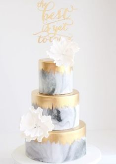 Featured Cake: Sweet Philosophy; Wedding cake idea. #modernweddingcakes