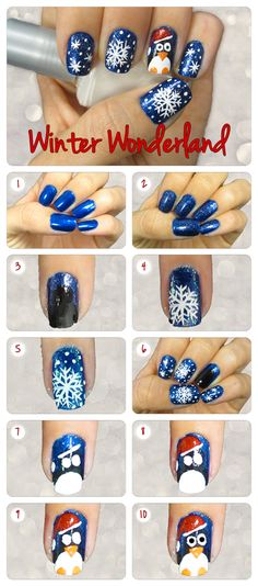 Spend the day in Winter Wonderland by creating this sweet snowflake nail design. Create Holiday Tree Tinsel Nail Design Accented with the. Snowflake Nail Design, Christmas Nail Art Designs, Holiday Nail Art, Winter Nail Art, Winter Nails, Fancy Nails, Trendy Nails, Love Nails, Nail Art Vernis