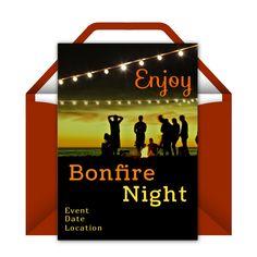Bonfire Night Partie invitation