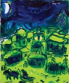 Marc Chagall - The green landscape, 1948-50.