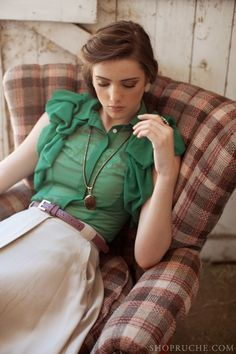Emerald Green Fashion by shopruche.com via fashionsy.com #emerald #fashion
