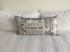 Pillow view, Bristol Hotel - Design by Jacqueline McGee