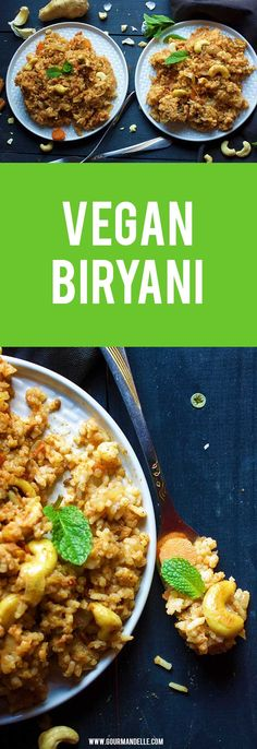 This vegan biryani recipe is a delicious, Indian comfort recipe made with rice, a silky smooth sauce and a unique combination of amazing spices! It's also quite rich in proteins! #indian #veganrecipes #biryani