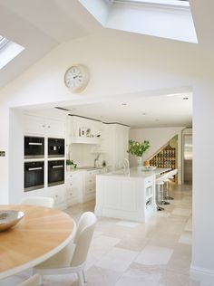 Our client's home in leafy cheshire was recently renovated with a bright and airy dining/kitchen extension overlooking the garden. the family wanted to make Open Plan Kitchen, Kitchen On A Budget, Kitchen Layout, Family Kitchen, Living Room Kitchen, Kitchen Decor, Kitchen Ideas, Porches, Tom Howley Kitchens