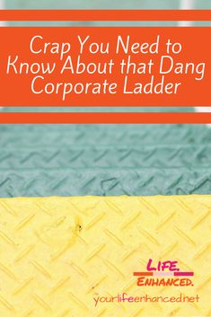 Corporate Ladder: Crap you need to know about that dang corporate ladder Talent Management, Continuing Education, Need To Know, Personal Development, Workplace, Life Lessons, Ladder, Coaching, Challenges