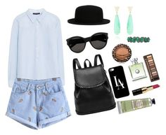 """""""Cloud of summer"""" by alinefer ❤ liked on Polyvore featuring MANGO, Yves Saint Laurent, Casetify, L'Occitane, Bobbi Brown Cosmetics, NSR Nina Runsdorf and Sutra"""