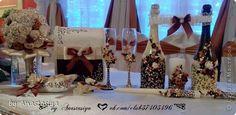 Декор предметов Свадьба Лепка Свадьба сестры в осенних цветах Фарфор холодный фото 1