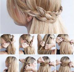 Really easy hair style. I did this when I had longer hair. So cute! <3