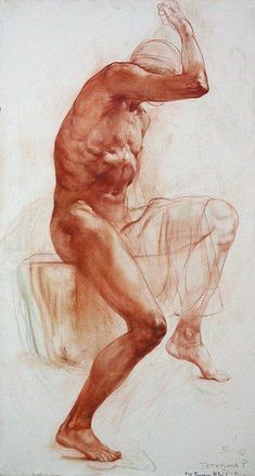 Russian academy of art figure drawing.