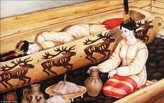 Insight: A reconstruction of a burial scene of the Ukok princess found in the Altai Mountains.