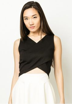 Cherly Overlap Crop Top