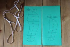 The Imagination Tree: Shoe Shop Dramatic Play! Foot size chart. Must make!