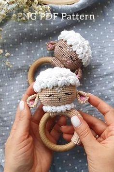 Crochet Baby Toys, Crochet Toys Patterns, Crochet Gifts, Cute Crochet, Stuffed Toys Patterns, Crochet Dolls, Baby Mobiles, Handmade Baby Gifts, Cross Stitch Animals