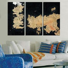 #Game #Thrones #Map of #Seven #Kingdoms #Westeros #Home #Décor #Wall #Art #Kids #Room #bedroom #panel #canvas #large #print  #homedecor #decoration #interior #design #designer #beautiful #woodwork #handmade
