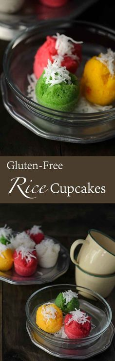 Gluten-Free Steamed Rice Cupcakes / Apam Beras. Malaysian version of cupcakes using fermented rice and rice flour combine.