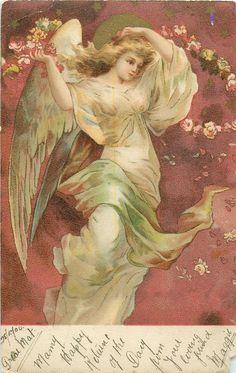 Vintage card / 1904 / Angel