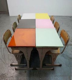 Colorful Vintage Schoolhouse Desks By Sschemata