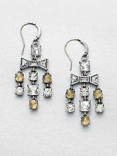 Marc by Marc Jacobs Mixed Stones Cascade Earrings