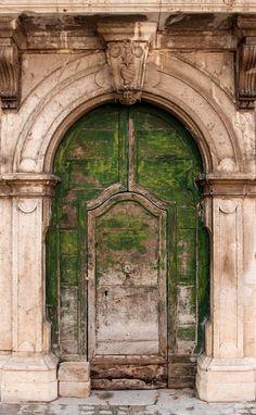 Doorway in the Barrea village, Abruzzo - Italy