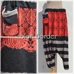 Hot sarouel pants-color Border-  #naturaleeza #winter #clothes #hippie #fashion