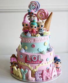New birthday cake kids girls buttercream Ideas - Cake Decorating Cupcake Ideen Doll Birthday Cake, Funny Birthday Cakes, Birthday Party Themes, Girl Birthday, Funny Cake, Lol Doll Cake, Surprise Cake, Surprise Birthday, Birthday Cake Decorating