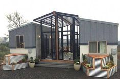 Top 18 Shipping Container Home Designs 2018 - Shipping Container House Design 8 Tiny House Builders, Tiny House Nation, Tiny House Plans, Small Room Design, Tiny House Design, Shipping Container Home Designs, Shipping Containers, Casas Containers, House Ideas