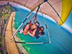 Hang gliding over Rio. What a view...and something I would LOVE to do!  I've ticked off 'Achieving Pilot Licence' off my list - this is next for me someday!  I feel most at home in the sky.  Forever an aviator.