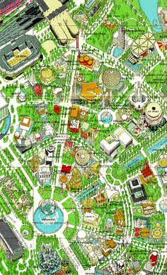New York World's Fair Map. With Michael Chabon in The Amazing Adventures of Kavalier and Clay. Flushing New York, World Of Tomorrow, New York Photos, City Maps, World's Fair, Cartography, Back In The Day, Vintage Advertisements, Vintage Photos