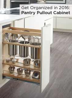 Make the most of a slim space in your kitchen with Diamond's Base Utensil Pantry Pullout Cabinet, which was recently featured by Kitchen + Bath Business. Keep the tools you need on hand with this ingenious cabinet, perfect for storing smaller kitchen necessities in stainless steel canisters.