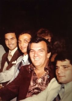Mike Perna, Tommy Ricciardi, Vic Perna and Mike Taccetta of the Lucchese family at the Copacabana.