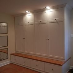 Mud room with doors and electrical coat area pinterest for California closets utah