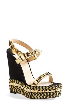 Christian Louboutin 'Cataclou' Wedge Sandal available at #Nordstrom