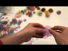 Organzové květiny - YouTube