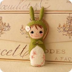 Babushka Bunny pdf Pattern Instant Download by Gingermelon, $4.50