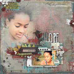 """Congrats to Stellamarie. Her layout, """"Never Give Up"""", was voted as this week's LOTW - January 25 in the Pickleberrypop Forum!"""