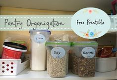 A free printable download for labelling pantry items... and anything else you might want to label