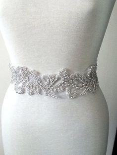 All around beading Bridal belt wedding belt by MyMothersDaughter60, $230.00