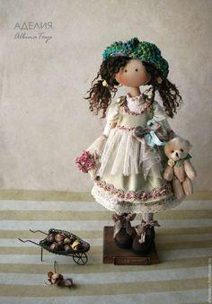 Купить Куклы. Текстильная кукла Аделия . Бохо стиль. - кукла, кукла ручной работы