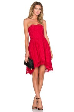 X by NBD Isabelle Dress in Red