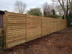 Horizontal Cedar Fence soft wood posts John Carter