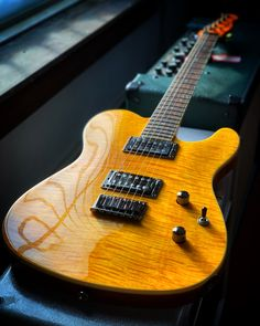 What do you think of the flame maple top on this Fender Special Edition Custom Telecaster FMT HH? Decidedly non-traditional, this Tele comes with a pair of humbuckers for extra sonic punch. Full details and pricing at elderly.com.
